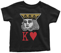 King Of Hearts Toddler T-Shirt Cute Valentine's Day Gift Love Cards