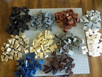 40 pieces Lego Assorted Slopes Castle Knights Bricks Roof Wedge pick your color