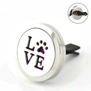 Love' Paws, Car Vent Air Freshener Fragrance Refillable 10ml oil, 7 pads, gift.