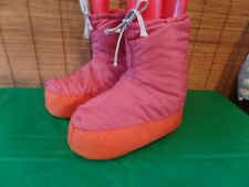 Vtg ALPINE DESIGNS Goose Down Filled Booties Camp Slippers Canvas Sole mens MED.