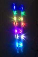 FIA 2pcs 3FT Flexible Spiral Tube Whip Light Chasing Antenna Strobe Dream Color