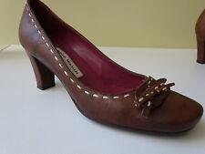 PEDRO MIRALLES Damen Soft Schuhe Pumps Leder Braun Spain Gr.36 f.Neuw