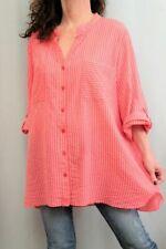 NEW SOFT SURROUNDINGS Mandarin Collar Striped Tunic PM