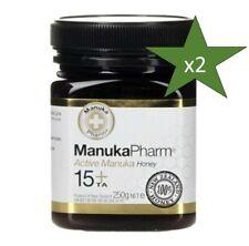 Manuka Pharm 15+ Active Manuka Honey 250g x2 100% Pure New Zealand