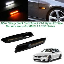 Black F10 Style Switchback Side Marker LED Lamps Lights For BMW 1 3 5 X3 Series