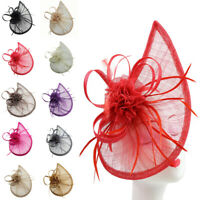 Large 30cm Headband and Clip Hat Fascinator Weddings Ladies Day Race Royal Ascot