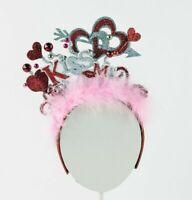 Valentine's Day Headband Kiss Me Glittered Hearts One Size New Sparkling Love