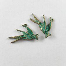 39pcs Vintage Bronze Tone Alloy Retro Swallow Shape Pendant Jewelry Findings