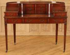 Gorgeous American Regency Style leather top Carlton Desk Mahogany 50 inches