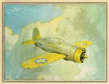 VINTAGE PRINT + JOHN T. McCOY JR + US NAVY + 1939-41 + BREWSTER F2A BUFFALO