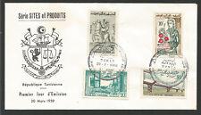Répubique Tunisienne FDC - enveloppe 1er jour 1959 oblitération Tunis /Fdca287