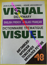 book libro Corbeil Archambault VISUAL DICTIONARY 1992 english french (L4)