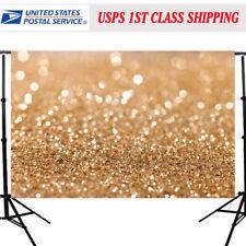 7x5FT Gold Glitter Sequin Spot Background Backdrop Vinyl Photography Studio Prop