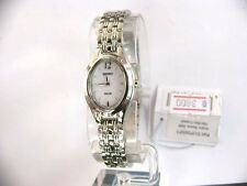 Seiko Solar White Dial Stainless Steel Ladies Watch SUP005P1