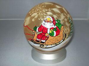 Weihnachtskugel orange X-Mas Glaskugel Weihnachten LED Licht   Ø 11 cm Deko