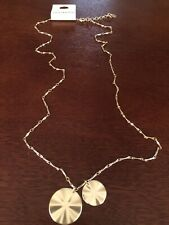 lucky brand gold tone pendant necklace long lobster clasp closure new with tags