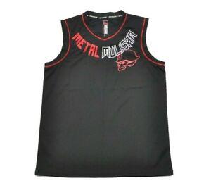Metal Mulisha DISRUPTIVE JERSEY Black Red White Skull Cap Men's Tank Top