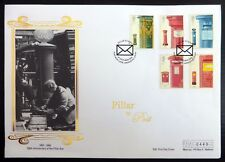 GB 2002 Pillar Boxes (5) on Silk FDC with Special Cancellation NB3845
