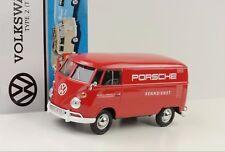 VW volkswagen t1 Type 2 recuadro Porsche renndienst rojo 1:24 Motormax