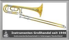 GiMa Bassposaune Bb/F mit Formkoffer und Mundstück Bass Posaune, SB:245 B:14,3mm