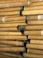Wooden Industrial Bobbins Vintage Quills Spools Thread Textile w/brass Lot-18