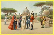 cpa Superbe Illustration RELIGIEUSE PAPE PIE X VATICAN Garde Suisse Pontifical