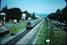 Original Slide Train RR Watsontown Amtrak special 202 209 Passenger car pass by
