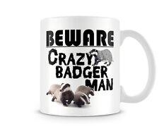 ANI_175 - BEWARE - Crazy Badger Man! mug