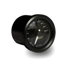 Velona Tacho 48mm, Schwarz, bis 140 km/h, für Harley-Davidson