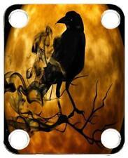 Neck Plate for Fender Guitar Color Graphic PJ Bass Strat Tele Moon Raven