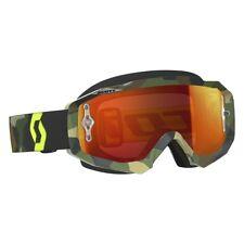 Scott Hustle Grey/Yellow MX Motocross Goggle With Orange Chrome Lens /Clear Lens
