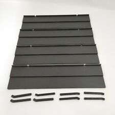 RUMMIKUB by Pressman Lot of 4 REPLACEMENT Tile Racks With Support Legs BLACK