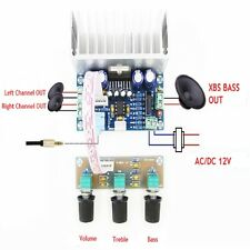 1pcs TDA7377 2*20W+30W Dual Channel /w XBS BASS Amplifier Board AC/DC 12-15V