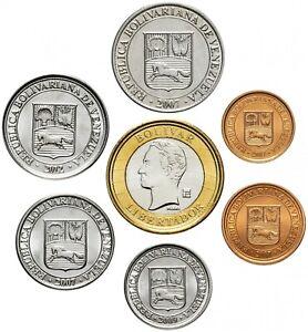 ✔ Venezuela set coins 1 5 10 25 50 centimo 1000 bolivar 2007-2009 UNC km 87-93