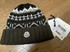 Moncler Boys Wool Winter Green Hat Berretto Size M