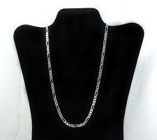 925 Sterling Silver 2mm width Figaro Chain  Necklace 26 inches long.