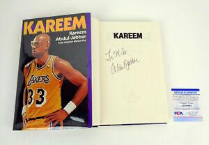 Kareem Abdul Jabbar Signed Autograph Kareem Hardcover Book PSA/DNA COA B