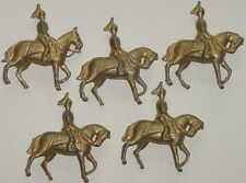 Old REKA England 1940s Lead, Gilt Life Guard Troopers Mounted, 5 Pieces Britains