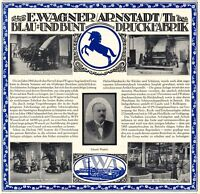 Indigofärberei Wagner Arnstadt XL Reklame 1920 Blau Einhorn Werbung Färberei +