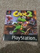 CROC 2 PS1 PLAYSTATION INSTRUCTION BOOKLET MANUAL ONLY NO GAME VGC
