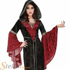 Ladies Cryptisha Sorceress Costume Halloween Gothic Vampire Fancy Dress Outfit