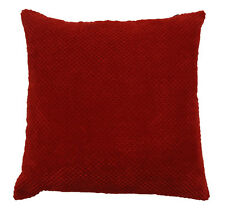 chenille spot cushion cover red (43x43cm)