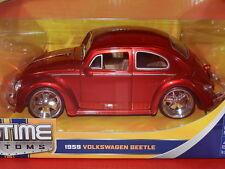 Jada 1/24 1959 Volkswagen Beetle Metallic Red BigTime Customs MiB