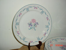 "4PC NEWCOR ""BLUE RIBBON"" 7 3/4"" SALAD-SERVING PLATES/BY VICTORIA/6026/FREE SHIP!"