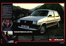 MG METRO RETRO POSTER A3 PRINT FROM CLASSIC 80'S ADVERT