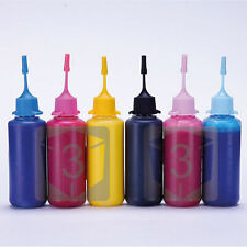 6 x 50ml Bottle Pigment Ink for Epson Refillable Ink Cartridges XP-850 277 277XL