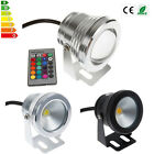 10W RGB 12V LED Underwater Spot Light 800-900LM Warm Cool Garden Pool Pond Lamp