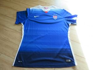 Nike Women's XL USA Soccer Tshirt Dri-Fit Short sleeve Shirt Blue
