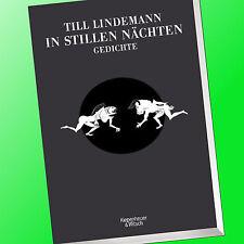 TILL LINDEMANN | IN STILLEN NÄCHTEN | Gedichte vom RAMMSTEIN-Sänger (Buch)