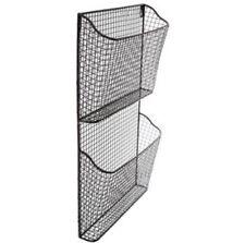 NEW! Magazine Rack Organizer Wall Mounted Hanging Storage Basket File 2 Tier